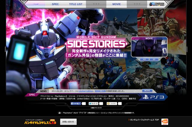 機動戦士ガンダム外伝 サイドストーリーズ | バンダイナムコゲームス公式サイト